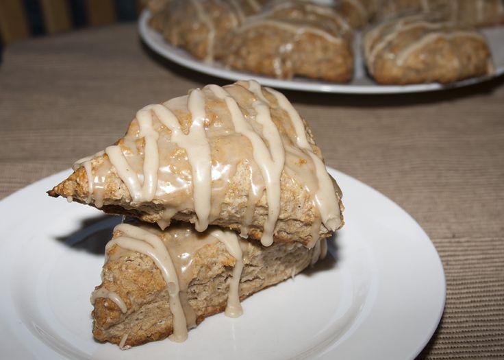 Banana Bread Scones With Brown Sugar Glaze Recipe — Dishmaps