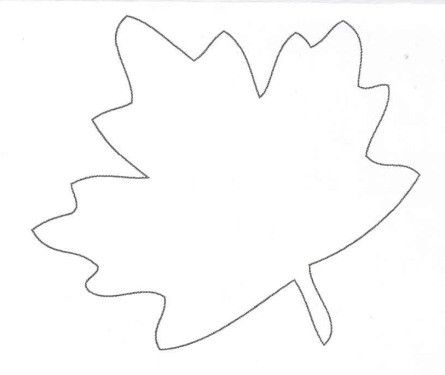 Leaf outline fall autumn coloring pages pinterest