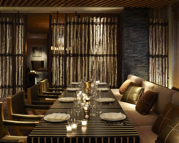 the intimate private dining room at viceroy snowmass mirrors the