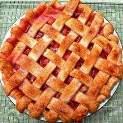 Rhubarb Pie With Lattice Crust | Food, Good Food | Pinterest