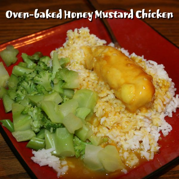 Oven-baked Honey Mustard Chicken | Lunch, Dinner, and Snack | Pintere ...