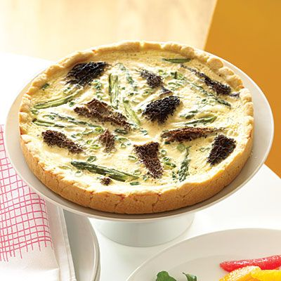 ramp and bacon omelette with asparagus and mushroom quiche morel pizza ...