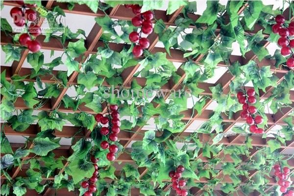 Ceiling treatment kitchen itchin 39 pinterest for Artificial grape vines decoration