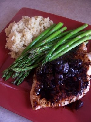 Balsamic apricot chicken. I just want to try the chicken!