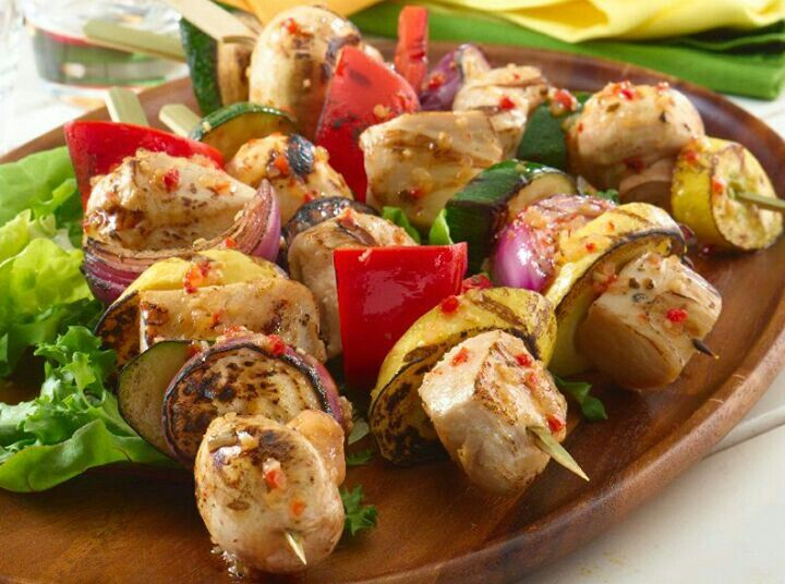 Grilled Chicken Kabobs | Recipes | Pinterest