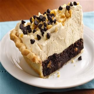 Mile High Peanut Butter-Brownie Pie