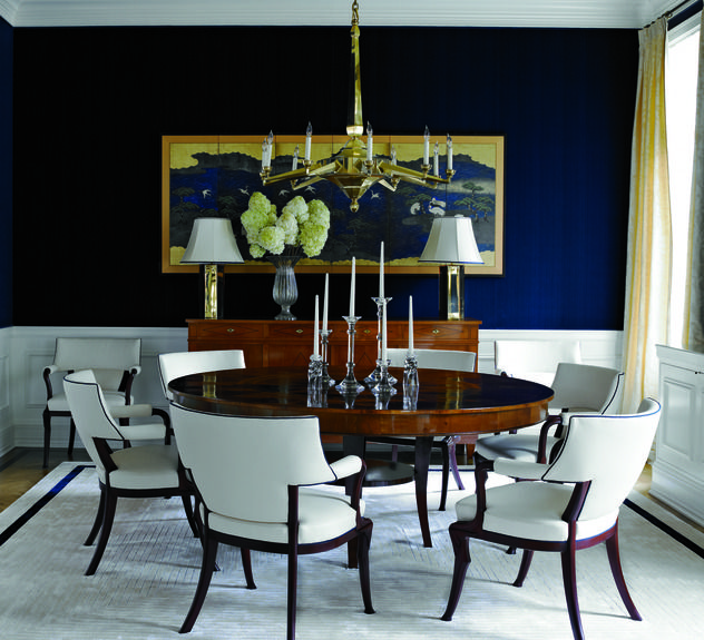 Navy White Dining Room Home Design Pinterest
