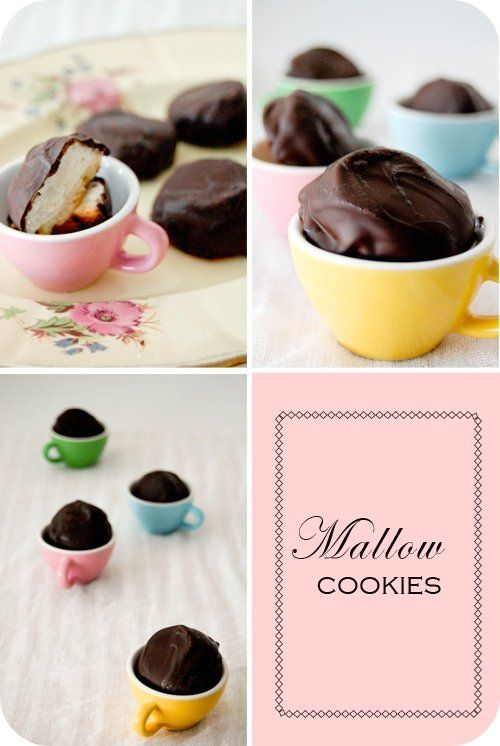 Chocolate Covered Marshmallow Cookies | party ideas | Pinterest