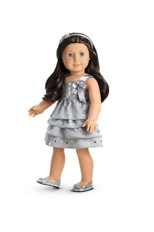 Silver Shimmer Dress for Dolls