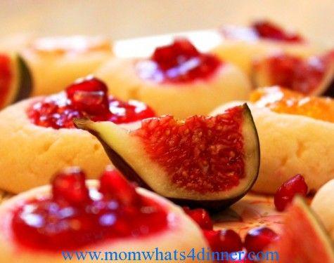 homemade raspberry & peach jam thumbprint cookies