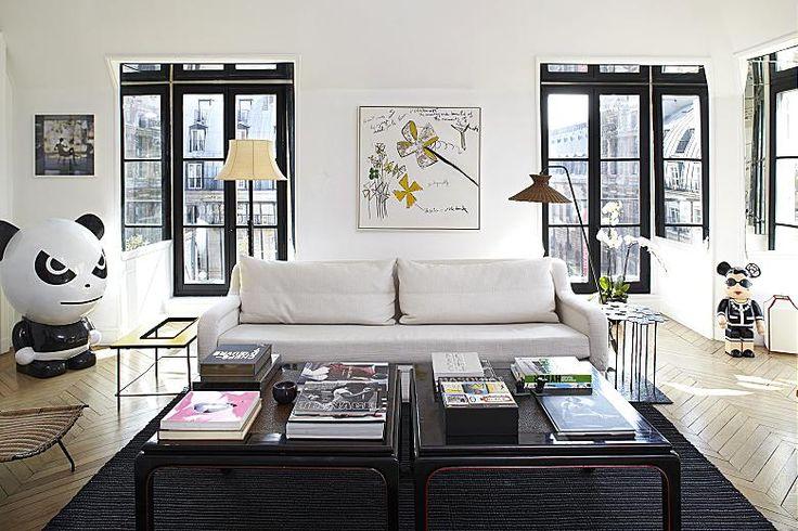 B W Parisian Apartment Paris Themed Living Room Ideas