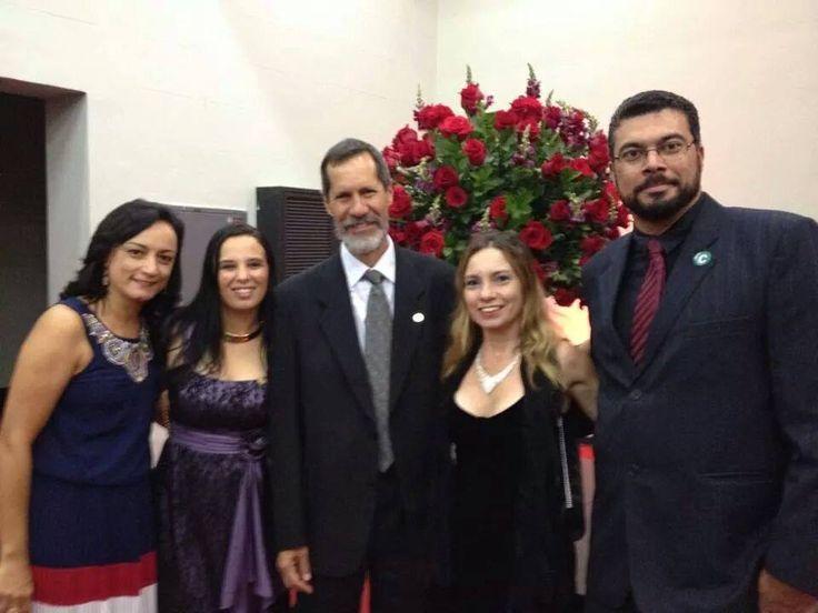 24/11/2014 - Lucia Fonseca, Rovena Nacif Martins, Kelly Maltez  e Plinio Marcos - homenagem Grande Colar Câmara de BH