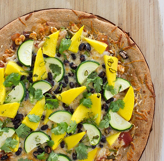 Spicy Mango Pizza With Black Beans & Zucchini Recipe ...