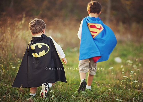 pals... aww, need some superhero capes for my boys