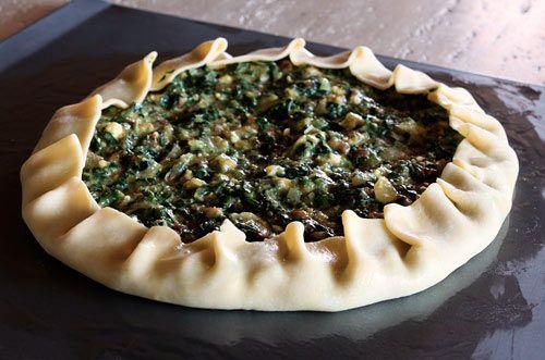 Torta di Bietola - Savory Tart with Greens, Pancetta and Onions