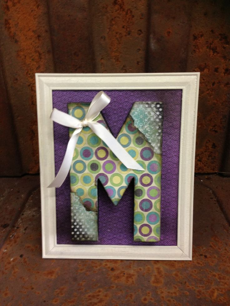 covering paper mache letters with scrapbook paper How about this paper mache letters craft for diy paper mache letters craft: diy personalized name art covered in scrapbook paper that had to.