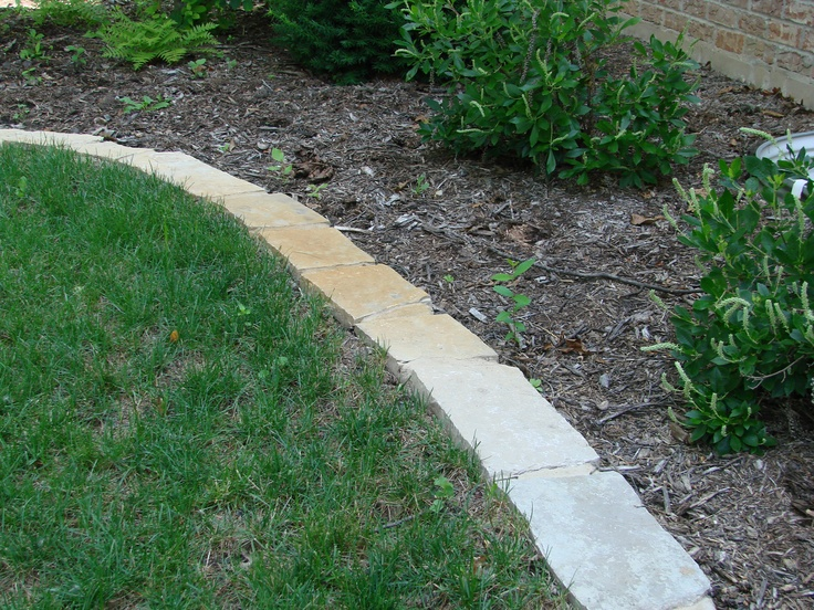 Edge Garden Landscape Rocks : Landscape mortared stone edging outside