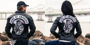 Sons of anarchy soa men's speedster, women's reaper synthetic leather
