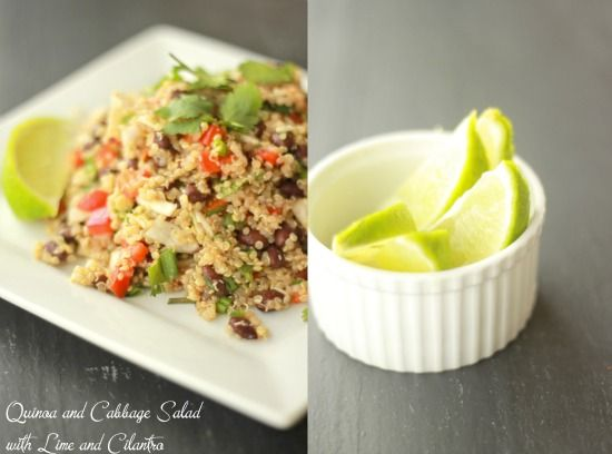 Quinoa and Cabbage Salad with Lime and Cilantro | Recipe
