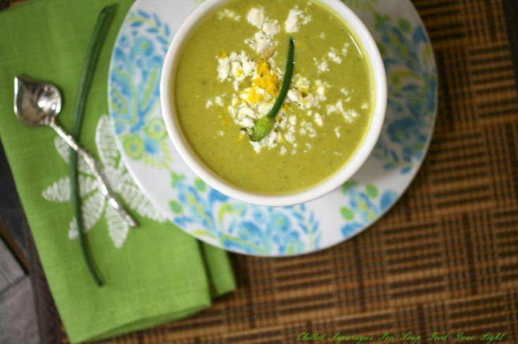 Chilled Asparagus Pea Soup. Ingredients: olive oil,onion, garlic ...