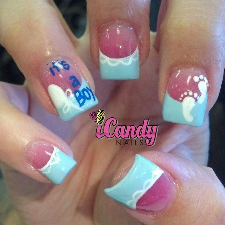 baby shower nails so cute nail designs pinterest