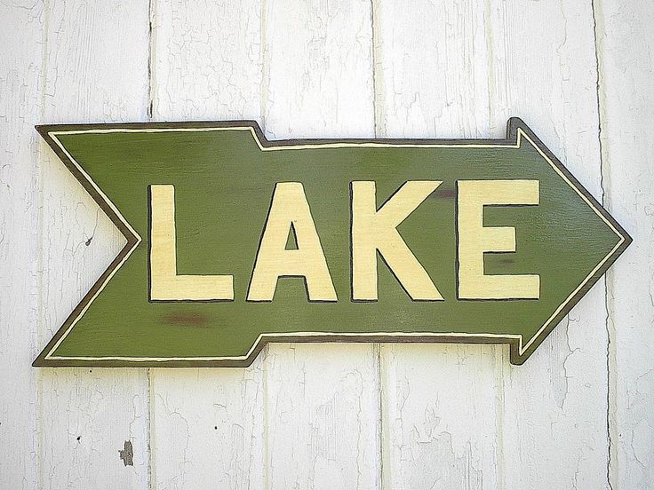Lake Signs Wall Decor : Wooden lake sign rustic house cabin cottage wall
