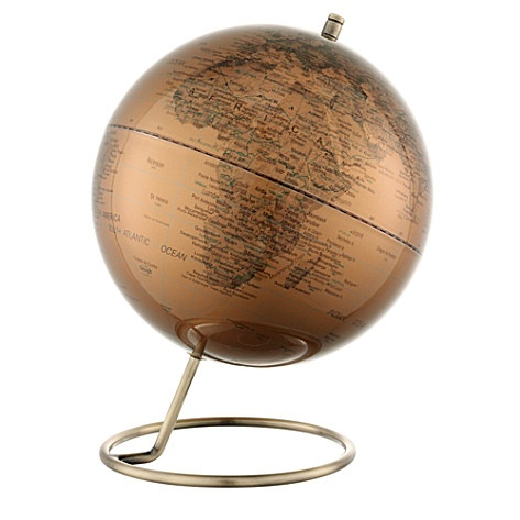 Copper desk globe 10