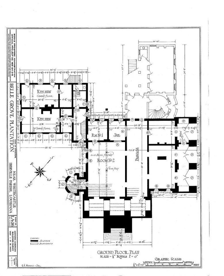Ground Floor Plan Southern Antebellum Homes And