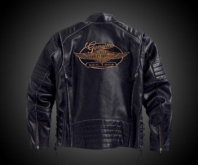 harley davidson leather jacket: