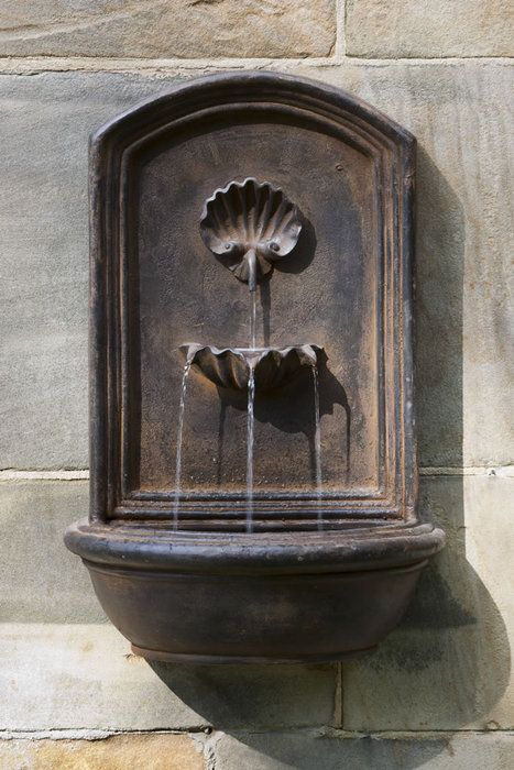 wall fountain garden pinterest