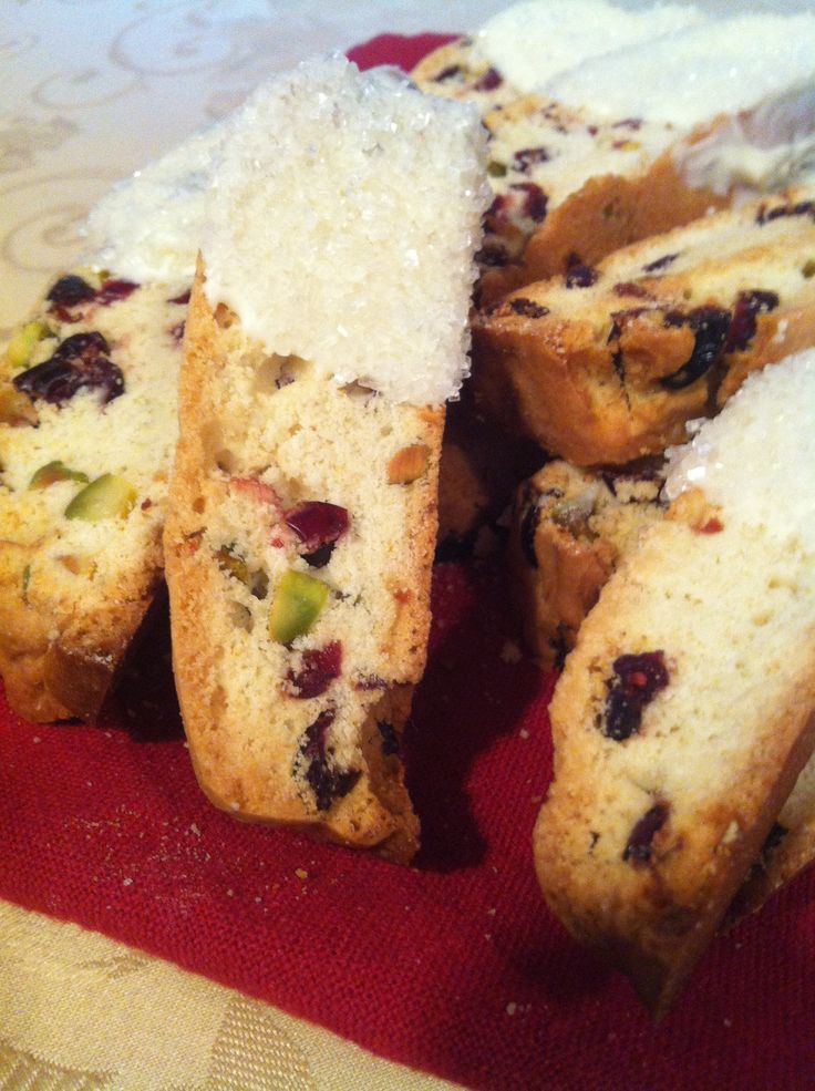 Holiday Biscotti With Cranberries And Pistachios Recipes — Dishmaps