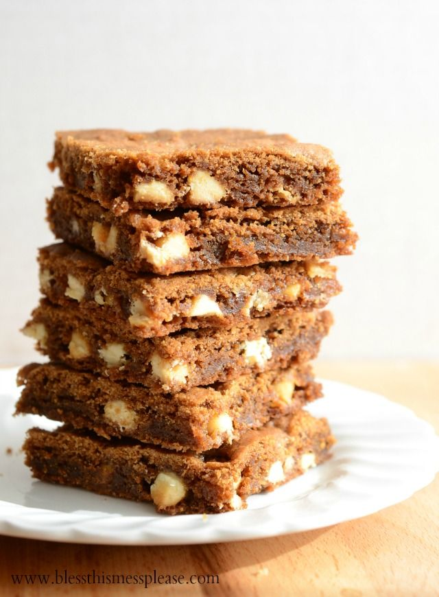 White Chocolate Gingerbread Blondies - made it for my goodie plates ...