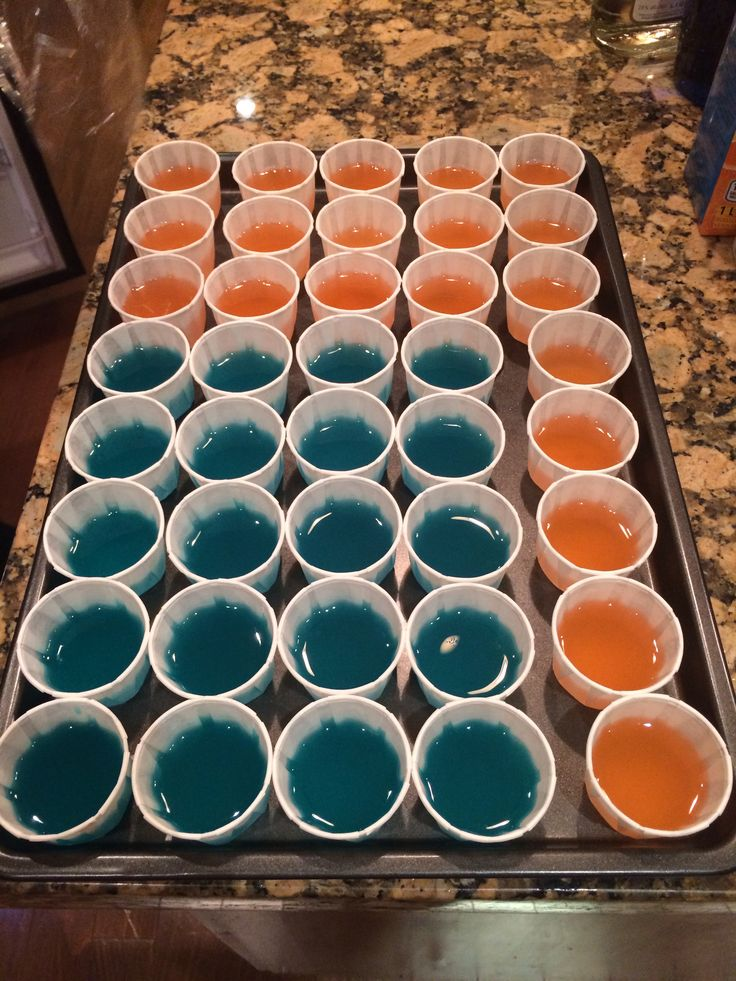 Blue Hawaiian Jell-O shots 1 cup water 1 pack berry blue jello 1/2 cup ...