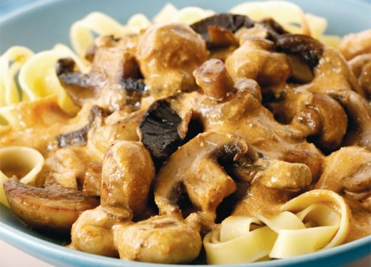 Creamy mushroom stroganoff. It's perfect for all those mushrooms that ...