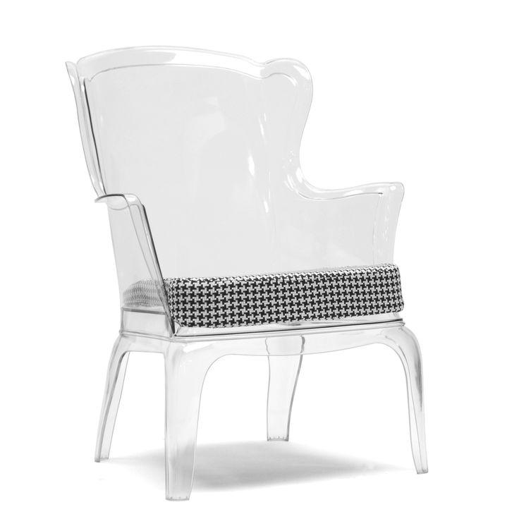 ... Studio Tasha Clear Polycarbonate Modern Accent Chair  Overstock.com