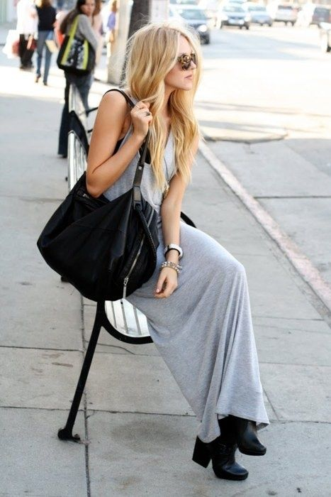How to Wear Boots with Dress #streetstyle #casual #chic