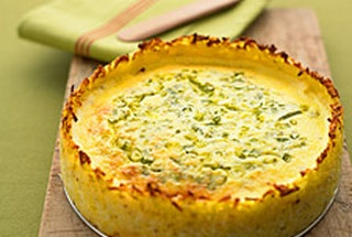 Goat Cheese Quiche with Hash-Brown Crust | Recipes - Everything Delic ...