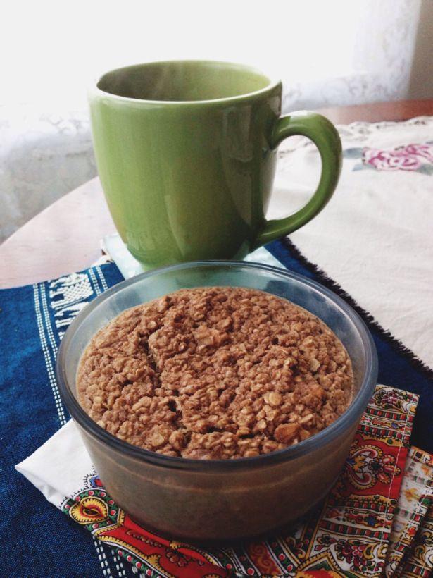 Vegan Banana Walnut Baked Oatmeal.   Vegan Breakfast and Healthy Snac ...
