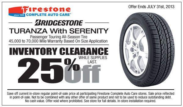 Firestone coupons brakes 2018