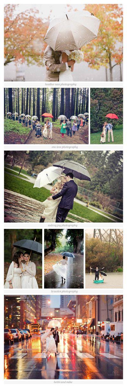 Idée mariage Se marier sous la pluie