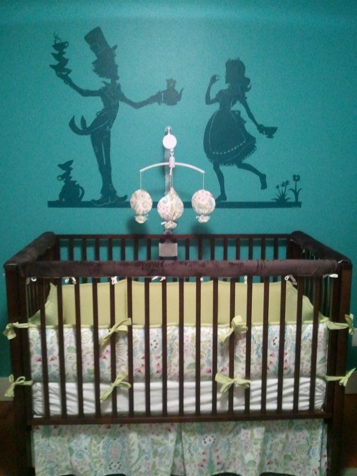 Pin by nicole rorem on alice in wonderland room pinterest for Alice in wonderland mural