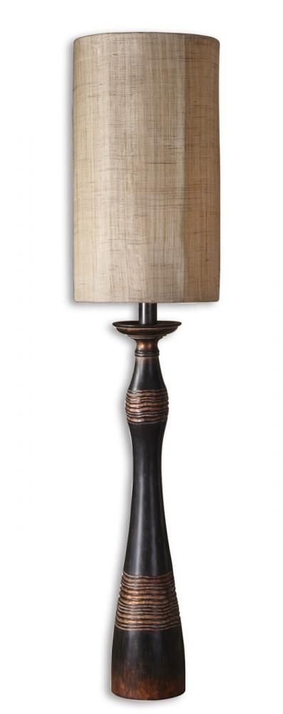 distressed aged black wood table lamp tall large lamp 45. Black Bedroom Furniture Sets. Home Design Ideas