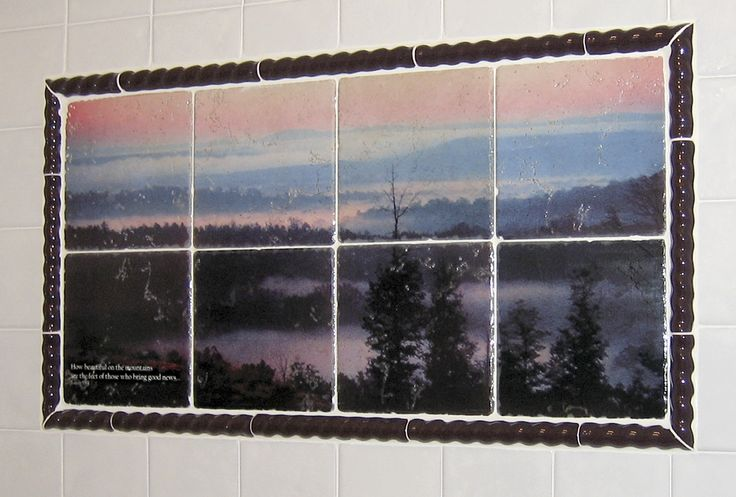 Pin by custom on custom printed tile mural for Custom mural tiles