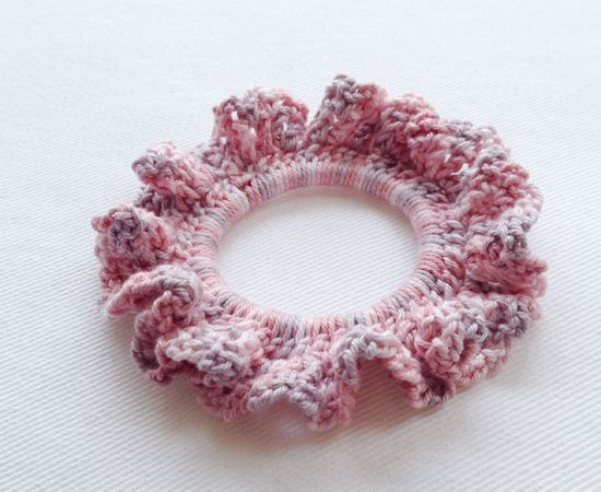 Crochet Hair Ties Pinterest : Coral Pink Cotton Hand Crochet Hair Tie Accessories Pinterest