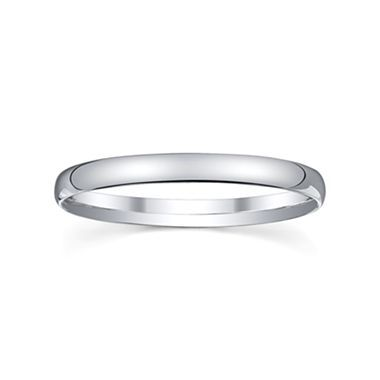 Womens 2mm Silver Domed Wedding Band Ring - jcpenney