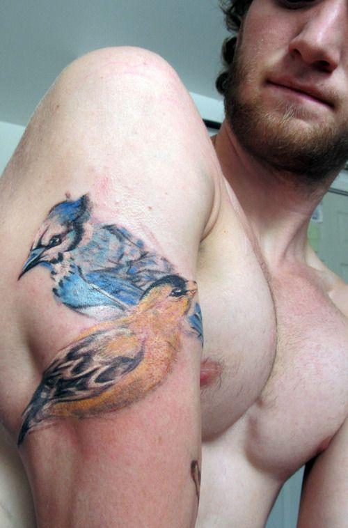 Bird tattoo on arm for men