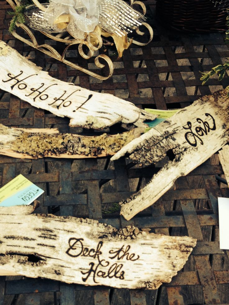 Birch bark holiday decor shut the front for Mara home decorations