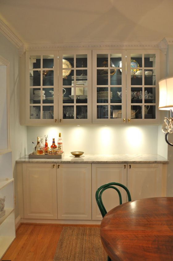 Built in china cabinet dream home pinterest for Built in kitchen hutch designs