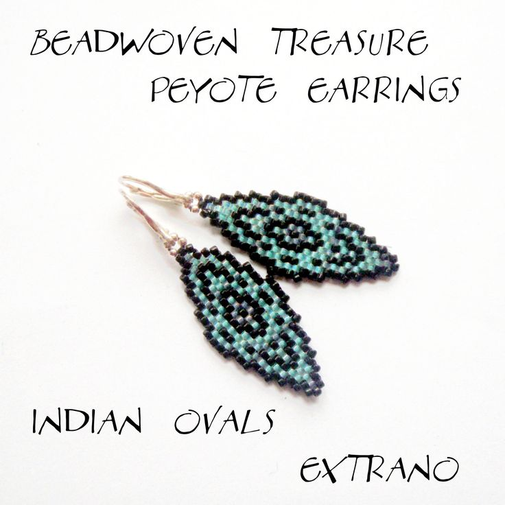 peyote earrings indian ovals pattern only without