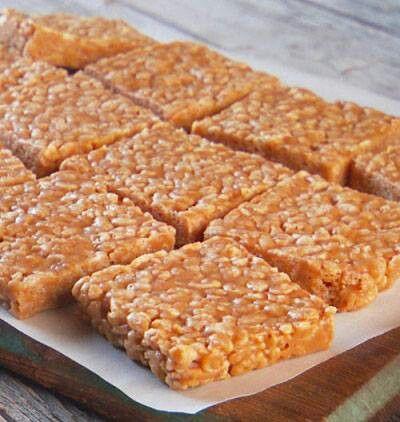 Peanut Butter Rice Krispie Bars | recipes | Pinterest
